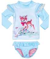 Rock Your Baby Girls Doe A Deer Ls Rashie Set (3 - 24M)