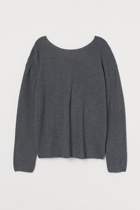 H&M Sweater with Low-cut Back