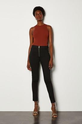Karen Millen Skinny Button Detail Jean