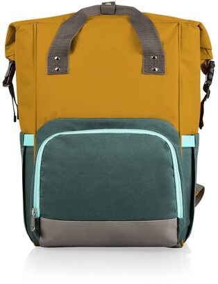 Picnic Time OTG Roll-Top Cooler Backpack - Mustard