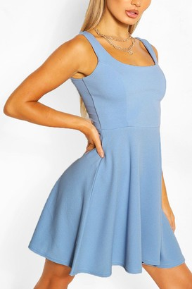 boohoo Belted Strappy Skater Dress