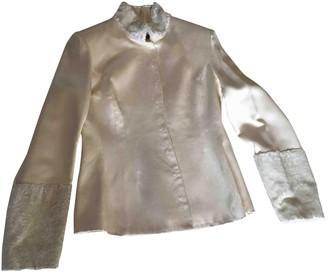 Anna Molinari White Silk Jacket for Women