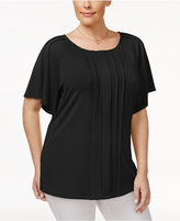 Charter Club Plus Size Pleated Top, Created for Macy's
