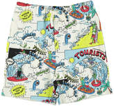 Stella McCartney Josh Comic Strip Organic Cotton Sweat Shorts