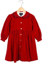 Oscar de la Renta Girls' Corduroy Long Sleeve Dress
