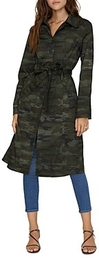 Sanctuary Camo Print Trench Coat