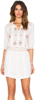 Hoss Intropia Embroidered Peasant Dress