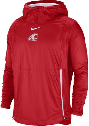 Nike Men's Crimson Washington State Cougars 2018 Sideline Fly Rush Pullover Jacket