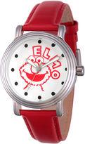 Sesame Street Womens Red Strap Watch-Wss000016