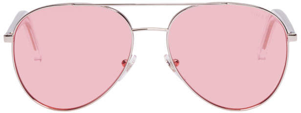Super Silver and Pink Ideal Sunglasses