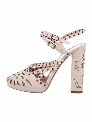 Marchesa Maddy Suede Sandals w/ Tags pink