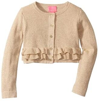 Lilly Pulitzer Fleur Cardigan (Toddler/Little Kids/Big Kids) (Gold Metallic) Girl's Clothing