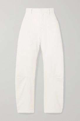 Nili Lotan Shon Stretch-cotton Twill Tapered Pants - White