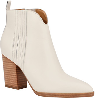 Marc Fisher Annabel Leather Ankle Booties