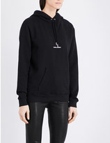 Saint Laurent Logo-embroidered cotton-jersey hoody