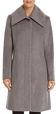 Cole Haan Envelope Collar A-Line Coat