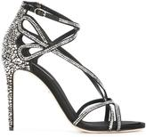 Dolce & Gabbana rhinestone sandals - women - Silk/Goat Skin/Leather/Viscose - 39
