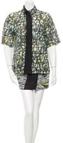 Kenzo Perforated Button-Up Dress w/ Tags