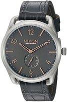 Nixon Men's A4652145 C45 Leather Analog Display Swiss Quartz Grey Watch