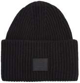 Acne Studios Pansy Face wool-blend beanie hat