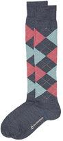 Burlington Knee High Argyle Print Socks with Virgin Wool
