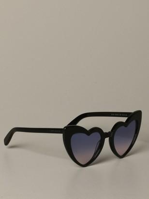 Saint Laurent Heart-shaped Acetate Glasses
