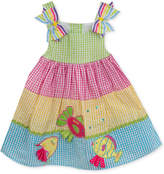 Rare Editions Colorblocked Seersucker Sundress, Baby Girls