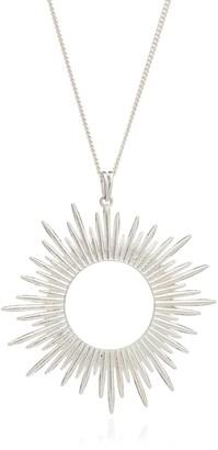 Rachel Jackson London Electric Goddess Statement Sun Necklace Silver