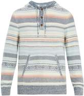 Faherty Baja hooded cotton-blend poncho