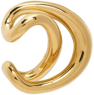 Charlotte Chesnais Gold Initial Single Ear Cuff