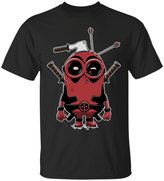 Emily Gift Shop Minionpool Deadpool Minions Funny Marvel Comic Book Cartoon T-Shirt-Emily's Design Unisex Adult's