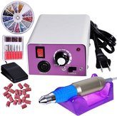 A & W 20000RPM Pen+Foot Pedal Control Nail Drill Art Kit File 6 Bits Acrylic Manicure