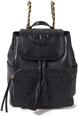Tory Burch Fleming Embossed Quilted Leather Backpack
