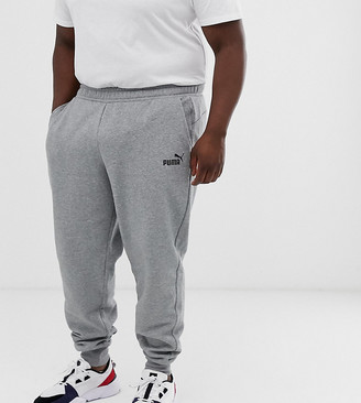 Puma PLUS Essentials skinny fit joggers in grey