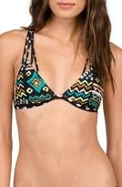 Volcom Women's Instinct Print Triangle Bikini Top