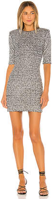 Alice + Olivia Inka Embellished Strong Shoulder Crew Neck Dress