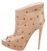 Brian Atwood Studded Peep-Toe Booties