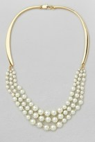 French Connection Graduated Glass Pearl Collar