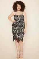 Forever 21 FOREVER 21+ Plus Size Floral Crochet Dress