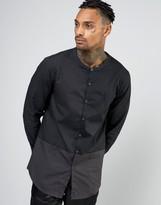 AKA Longline Shirt With Grandad Collar