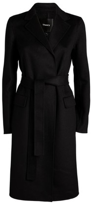 Theory Belted Wool-Cashmere Coat