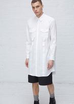 Comme des Garcons white buckle dress shirt