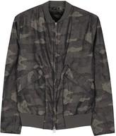 Helmut Lang Camouflage Jacquard Bomber Jacket