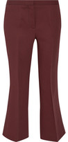 Burberry Cropped Wool And Silk-Blend Flared Pants