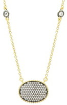 Freida Rothman Oval Pendant Necklace