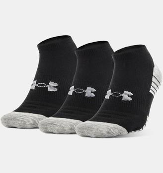 Under Armour Boys' UA HeatGear Tech No Show Socks 3-Pack