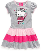 Hello Kitty Girls Dress, Little Girls Printed Ruffled