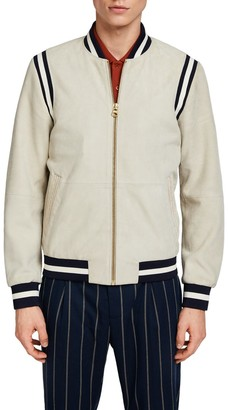 Scotch & Soda Suede Varsity Jacket