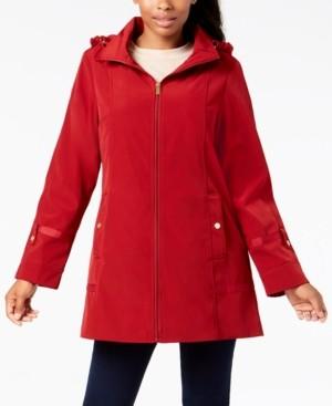 Jones New York Front-Zip A-Line Raincoat