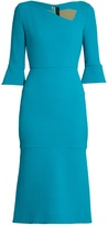 Roland Mouret Dagnall flared-hem dress